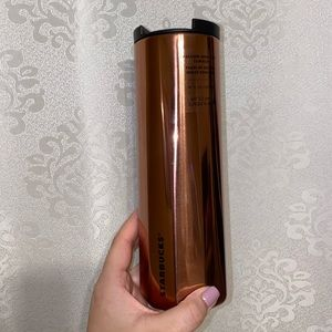 Rose gold starbucks tumbler